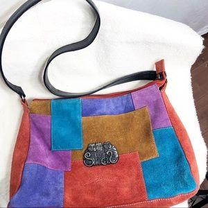 Vintage Laurel Burch Cat Lover Suede Bag    SB1